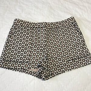 Perfect J Crew pink and black dot short